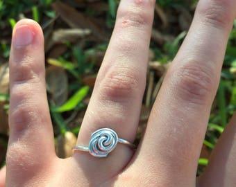 Minimalist rose rings