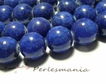 2 tinted jade lapis lazuli 16mm beads