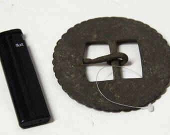 Large Antique Buckle Large Vintage Buckle Bronze Belt Buckle Large Metal Belt Buckle Antique Buckle Harness