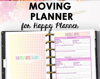 printable moving checklist and planner