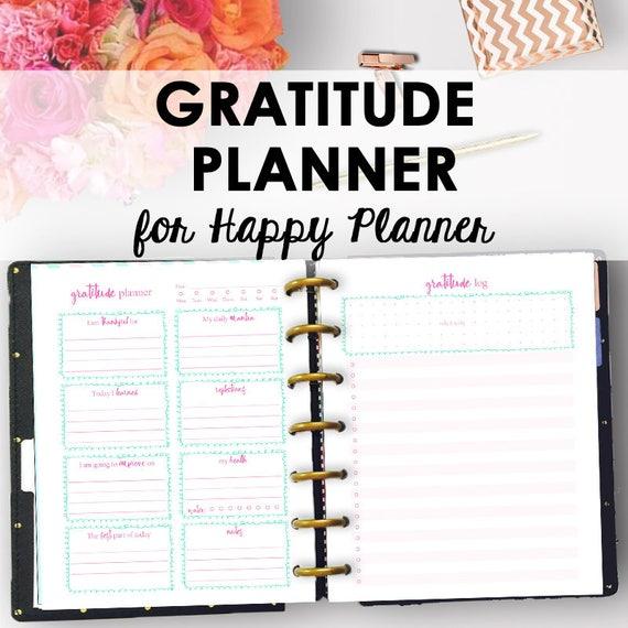 Gratitude log for happy planner gratitude planning happy for For planner