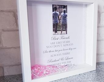 Best Friend Frame / best friend / friend gift / photo frame / personalised frame / personalised friend frame / best friends are like stars