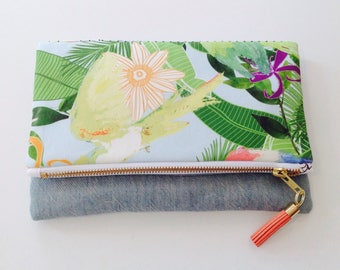 Hattie foldover clutch