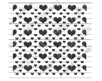 Hearts cookie stencil background Valentine's day NY0133