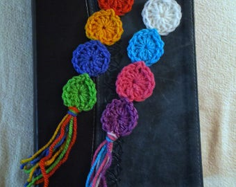 Set of 2 Colorful bookmarks, crochet bookmarks, page holder, crochet page holder, book lover, bookworm
