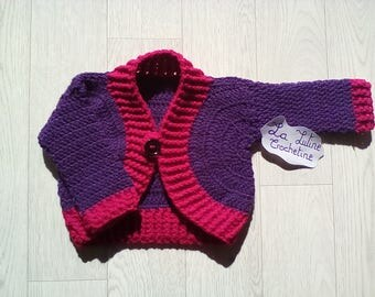 Hand-made crochet baby vest