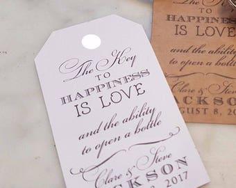 Wedding-Favours-Personalised  Vintage-Key-Bottle-Openers-Tag-Antique-Key-Wedding-Favours personalised