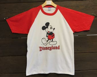 1980's 80's Mickey Mouse Disneyland T Shirt