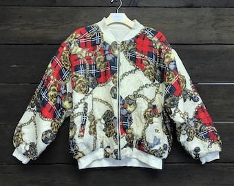 Vintage 80s Satin Bomber Jacket