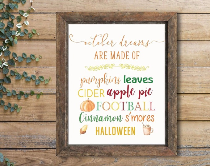Featured listing image: Fall Lovers Print, Fall Colors Print, Octobers Are Made Of Artwork, Fall Colors Print, Fall Decor, Fall Decoration, Fall Lover Decor