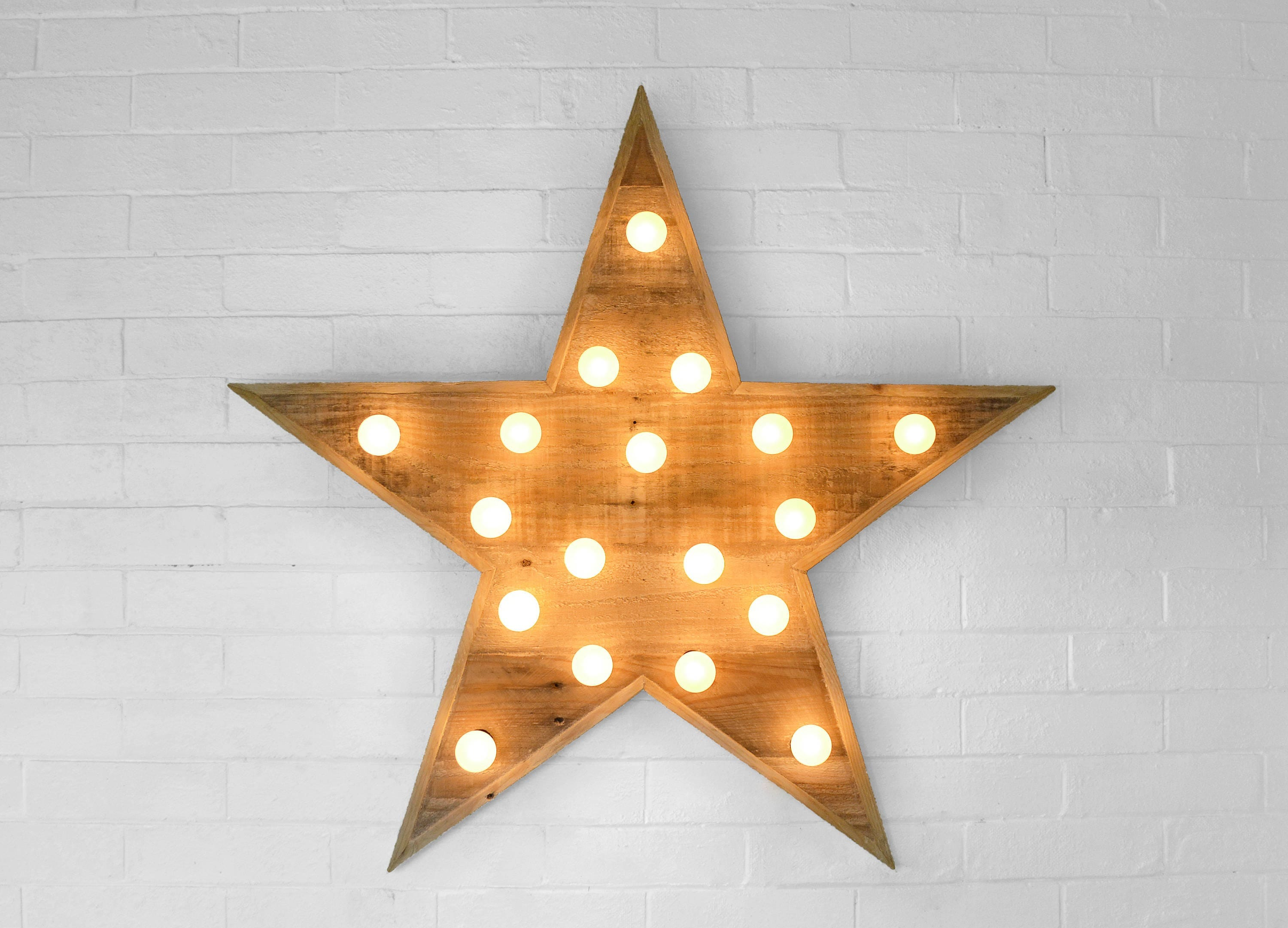 Star Wall Art Reclaimed Wood Star Wall Art  Lighted Star Marquee