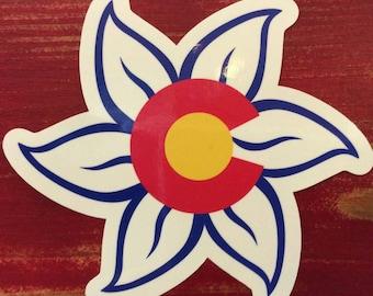 "Colorado Columbine 6"" Printed Car Sticker"