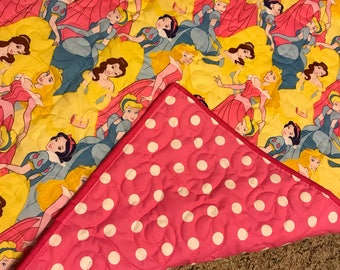 Reversible Princess Quilted Throw