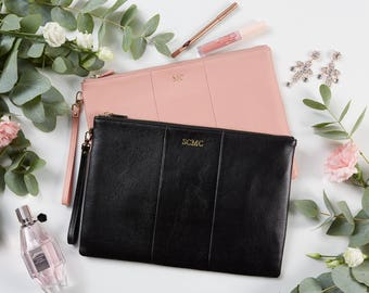 Large Pebbled Pouch Clutch