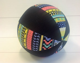 Balloon Ball Baby, Balloon Cover, Balloon Ball, Ball, Kids, Aztec Print, Black, Portable Ball, Travel Toy, Travel, Eumundi Kids, Eumundi