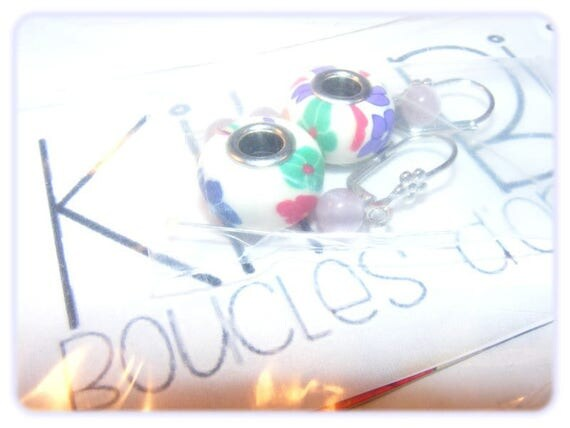 """END of series - Kit """"DIY"""" earrings to make yourself [Floral Colors."""