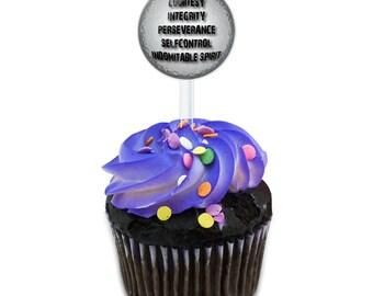 Five Tenets Of Taekwondo Cake Cupcake Toppers Picks Set