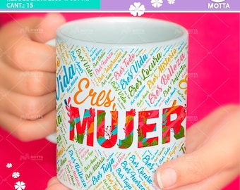Sublimation templates women's day-women's cups insoles-Womens Mugs-8 March-World women's Day
