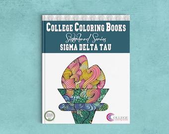 Sigma Delta Tau SDT Coloring Book | Sorority Recruitment Bid Day Reveal | Big Little Gift | Study Break | Back to School | Greek Licensed