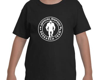 Official Bigfoot Research Team Wild Hunting Outdoor Sasquatch Yeti Chupacabra Bigfoot shirts for Youth Kids