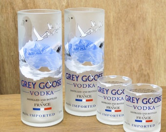 grey goose vodka gift set highball glasses shot shot glasses  earth friendly man cave gift dad booze gift perfect gift for wife drinking