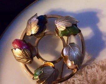Vintage Sarah Coventry Fall Circle Pin Brooch