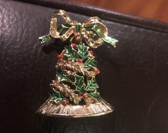 Vintage Signed Gerrys Bell Pin Brooch