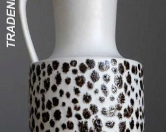 Vintage 60-70's STEULER KERAMIK 141 White Vase Jug West German Pottery Fat Lava Era