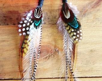 Gypsy feather earrings