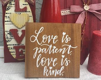 1 Corinthians 13:4 (7.5x7.5in)