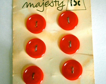 Majesty Vintage Red Buttons