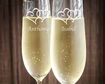 I Do and I Do Too Wedding Personalized Toasting Flutes - Wedding Toasting Flutes - JM20799-CF45520