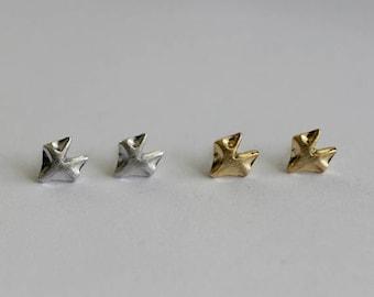 Fox Stud Earrings / fox face earrings, little prince fox, animal jewelry, dainty fox studs / E0-39