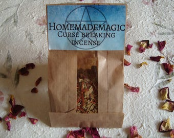 1 oz curse breaking incense blend, hex breaking, loose incense, herbal, wicca, pagan, witchcraft, ritual, supply, magic, spell, gift