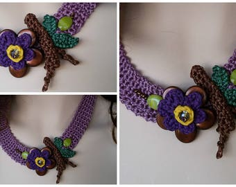Fabulous purple Bishop collar.