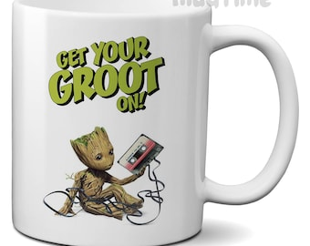 Guardians Of The Galaxy - Get your groot on - Coffee Tea Mug Cup Ceramic 330ml