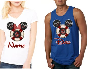 New DISNEY CRUISE FAMILY Vacation with custom names 2017 T-Shirts Disney All Sizes Minnie & Mickey all styles