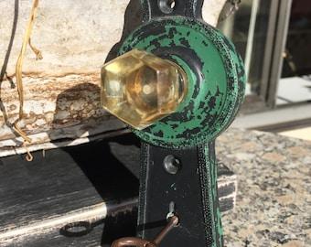 Shabby Chic Wall Hook, Lucite Knob Wall Decor