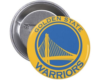 """Golden State Warriors Button - 1.5"""" and 2.25"""" Pinback Button"""