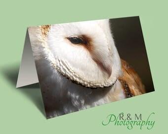 Owl Card - barn owl - owl photo - blank greeting card - owl - personalised card - personalized card - any occasion card - greetings card