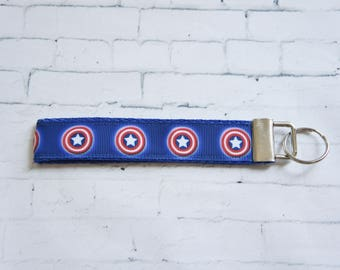 Captain America,keychain, gift for geek, tv addict, Keychain, reday to ship, birthday gift, birthday party, kids, movie fan,
