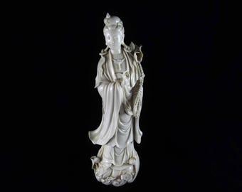 Blanc de Chine Guanyin statue