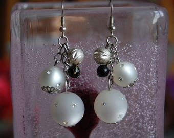polaris earrings White Pearl 16mm for the largest