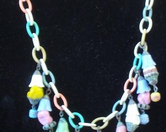 Vintage plastic figural /Ice Cream Cone Necklace
