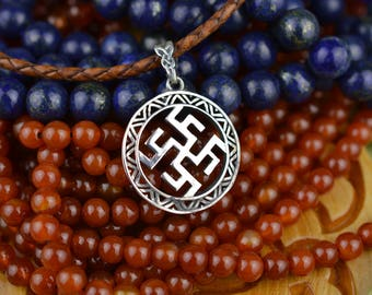 Fern Flower. Ancient Slavic Witchcraft Healing Symbol. Handmade Wicca Nordic Amulet. Viking jewelry. Norse Scandinavian Witch Jewellery
