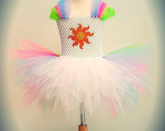 My Little Pony Tutu Dress - Princess Celestia Outfit - Equestria Girls - MLP Dress - Rainbow Tutu Outfit - Birthday Outfit- Halloween Dress