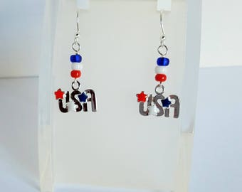 4th of July  USA Earrings