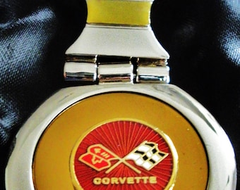 Corvette C3 18K Gold Keychain with Silver Trim-Free Engraving