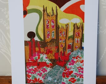 Digital print of Canterbury Cathedral