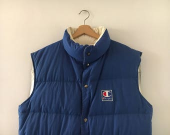 Champion Jacket Sleeveless Gilet Vintage 90s Size XL